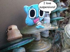 Gumball loves suspensions by dev-catscratch
