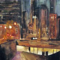 Chicago Dusk by Essiss