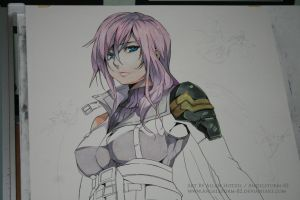 FF XIII Lightning progress by Angelstorm-82
