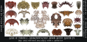 Game of Thronez - Head-Crown-Chest Armor Accent Fx by AdamF-X29