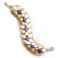 Gold with Purple Accents Scale Bracelet by SerenFey