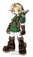 Link done my way Color by rongs1234
