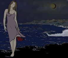 The night I left the ocean by slither-astray