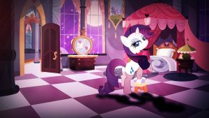 Wallpaper Lovely Rarity waiting for him by Barrfind