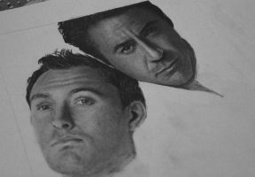 Jude law and Robert downey WIP by Electricgod
