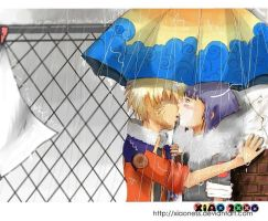 Under the Rain: NaruXHina by xiaoness