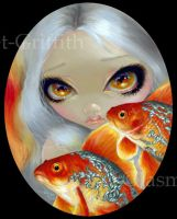 Jeweled Fish:  Silver and Gold by jasminetoad
