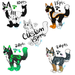 Canine Adoptables ::CLOSED:: by KTPPaws143