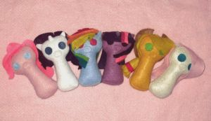 My Little Pony Keyhole Plushies by Nonameth