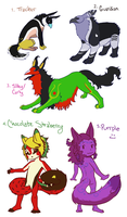 Rayshin/Tailmouth Adopts [OPEN] by sugar-hype99