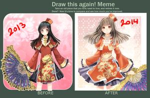 Da Qiao: before and after by sasucchi95