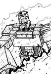 G1 Megatron B+W by Berty-J-A