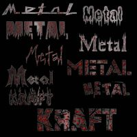 metal gore with fonts by Klixin