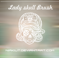 Lady skull brush. by Niakiut