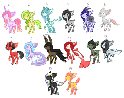 Many pony adopts OTA - OPEN- by OfficerMittens