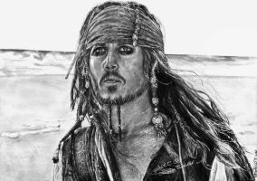 Captain Jack Sparrow by moepi92