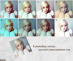8 Photoshop Actions by nety-green