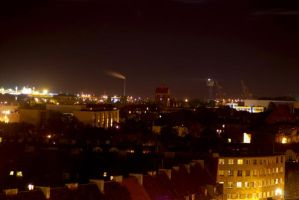 City at night 2 by czach