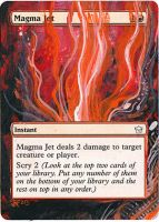 Magic Card Alteration: Magma Jet 6/6 by Ondal-the-Fool