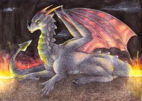 The lava dragon by Siplick