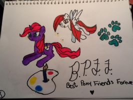 Best Pony Friends Forever by theoddlydifferentone