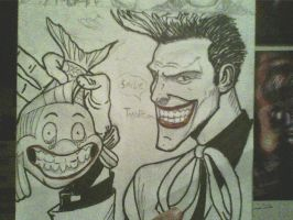 Joker and flounder smile. by ThomasDrawsStuff