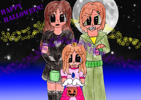 Contest entry - Ragtag Trick or Treaters by Llama-lady