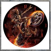 Hell Rider Clock from Anne Stokes by nemesisnow23