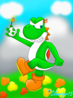Angry Yoshi is Angry by Silverfur15