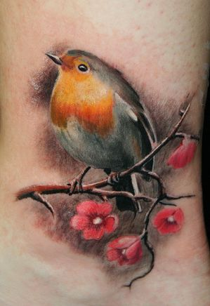 Robin Bird Tattoos