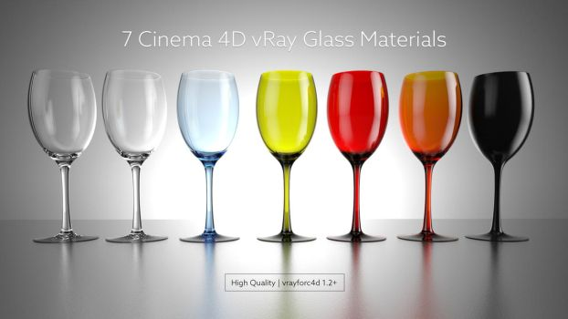 Cinema 4D vRay Glass Materials by rimax420