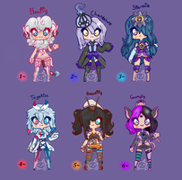 Pokemon Gijinka Girls Adopts (CLOSED) by TearyIris