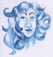 Watercolour Face by SkyWookiee