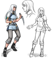 Phantasy Star IV Fangame - Ultema Starter Design by ultema
