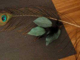 Elegant Peacock Plume by DreamsWithinMe