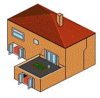 Pixel House by donkirk
