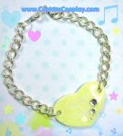 Yellow heart bracelet by The-Cute-Storm