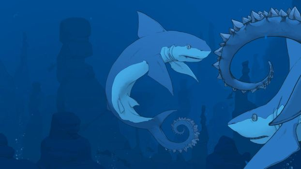 Helicoprion Concept 2 by BlayneFox