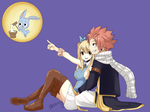 October monthly art posts:Nalu after postcard by rawwxxwizz
