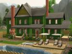 Sims 3 Green victorian house by RamboRocky