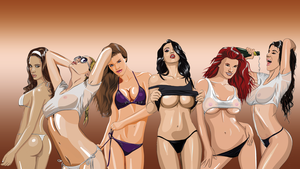 Pin-up Girls HD Wallpaper by tuonenjoutsen