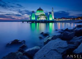 Malacca Straits Mosque by Draken413o