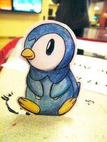 Paper Piplup by pettyartist