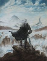 Arthas above the Sea of Fog by hlessi