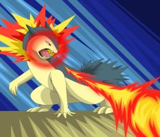 Typhlosion used Flamethrower by Sarieu