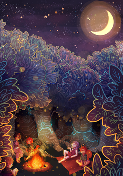 Night Forest by n-hakow