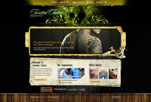 Tattoo Web Design by Malaw