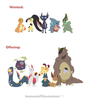 Pokemon Trades by Immonia