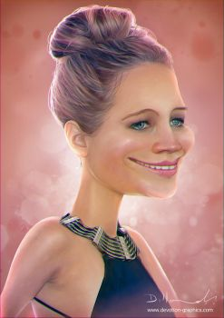 Jennifer Lawrence Caricature by devotion-graphics