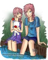 Claire and Serah by SharinganChocobo